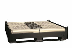 Foldable plastic pallet box SmartBox 1389 F