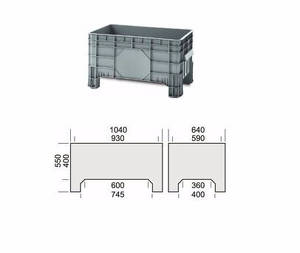 Plastic tub Storage Unit Model 1425 F