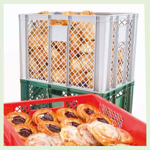 Plastic crate for bread 0751